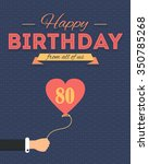 happy birthday vector design.... | Shutterstock .eps vector #350785268
