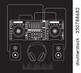dj mixer sound turntables... | Shutterstock .eps vector #350788682