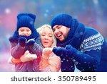 portrait of happy family... | Shutterstock . vector #350789495