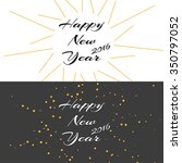 happy new year holiday... | Shutterstock .eps vector #350797052