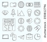 set of business icons arranged... | Shutterstock .eps vector #350812796