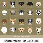 Stock vector set of dogs vector illustration puppy 350816786