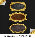 label and frame of gold... | Shutterstock .eps vector #350819948