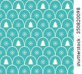 fir tree forest seamless... | Shutterstock .eps vector #350820098