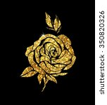 Glowing Golden Rose On...