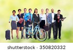 group of business people over... | Shutterstock . vector #350820332