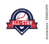 red  white and blue baseball... | Shutterstock .eps vector #350822495