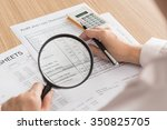 auditor checking financial... | Shutterstock . vector #350825705