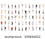united colleagues isolated over ... | Shutterstock . vector #350836022