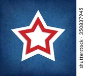 red white and blue star... | Shutterstock . vector #350837945