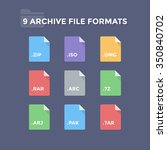 archive file formats.... | Shutterstock .eps vector #350840702