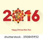 oriental happy chinese new year ... | Shutterstock .eps vector #350845952