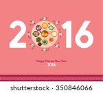 oriental happy chinese new year ... | Shutterstock .eps vector #350846066