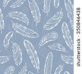 ethnic bird feathers hand... | Shutterstock .eps vector #350846438
