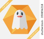 ghost flat icon with long... | Shutterstock .eps vector #350856218