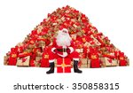 Santa Claus Sitting In Front O...