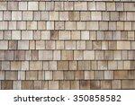 wooded plank roof tiles... | Shutterstock . vector #350858582