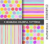 set of four colorful seamless... | Shutterstock .eps vector #350858912