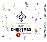 vector snowflake flat icon card....   Shutterstock .eps vector #350863616
