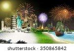 travel the world monument... | Shutterstock . vector #350865842