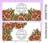 vintage delicate invitation... | Shutterstock .eps vector #350879756