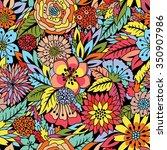seamless floral pattern | Shutterstock .eps vector #350907986