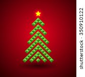 stylized christmas tree... | Shutterstock .eps vector #350910122