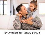 Pretty Little Girl Hugging Her...