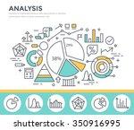 business graph statistics  data ... | Shutterstock .eps vector #350916995