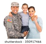 Happy Young Military Family Of...