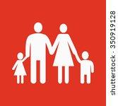 the family icon. family symbol. ... | Shutterstock .eps vector #350919128