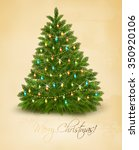 merry christmas card with... | Shutterstock .eps vector #350920106