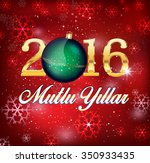 happy new year  turkish   mutlu ... | Shutterstock .eps vector #350933435
