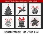 merry christmas and happy new...   Shutterstock .eps vector #350935112