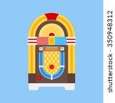 jukebox icon vector. flat icon... | Shutterstock .eps vector #350948312