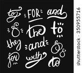 ampersands and catchwords.... | Shutterstock .eps vector #350955716