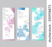 lovely banners set template... | Shutterstock .eps vector #350958872