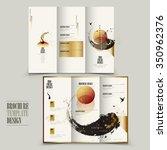 modern tri fold brochure...   Shutterstock .eps vector #350962376