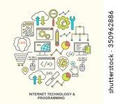 internet technology and... | Shutterstock . vector #350962886