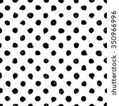 hand drawn polka dot black and... | Shutterstock .eps vector #350966996