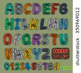 hand drawn vector doodle flat...   Shutterstock .eps vector #350969012
