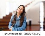 Boring Young Woman Thinking