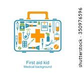 first aid kit box concept... | Shutterstock .eps vector #350976596