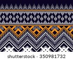 geometric ethnic pattern design ... | Shutterstock .eps vector #350981732