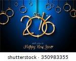 2016 happy new yearbackground... | Shutterstock . vector #350983355