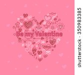 valentine's day greeting card... | Shutterstock .eps vector #350983385