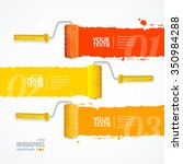 roller header number banners... | Shutterstock .eps vector #350984288