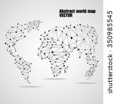 abstract world map with circles ... | Shutterstock .eps vector #350985545