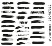 set of different ink brush... | Shutterstock .eps vector #350987312