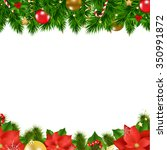 christmas borders with gradient ... | Shutterstock .eps vector #350991872